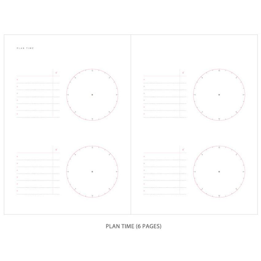 Plan time - Gradation undated weekly planner scheduler