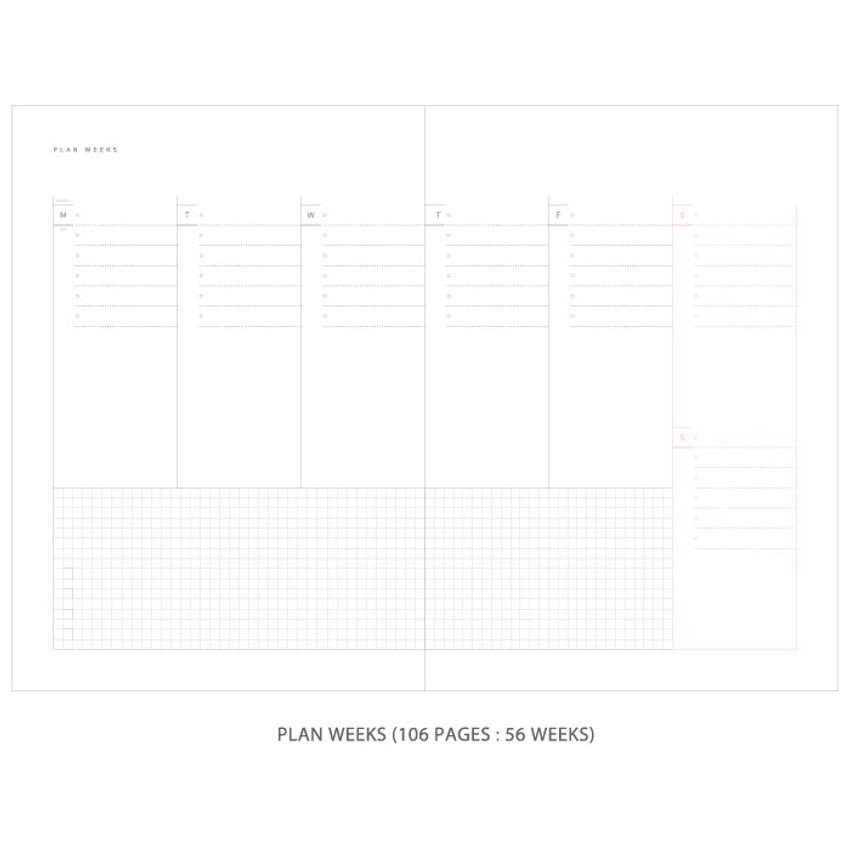 Plan weeks - Gradation undated weekly planner scheduler