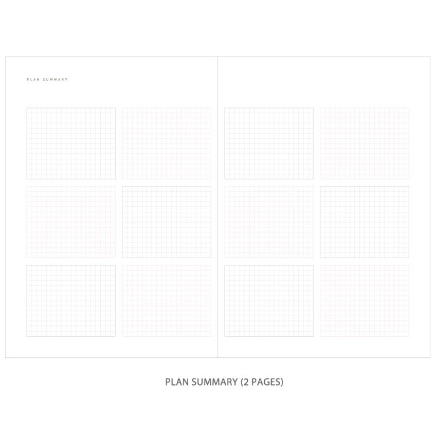 Plan summary - Gradation undated weekly planner scheduler