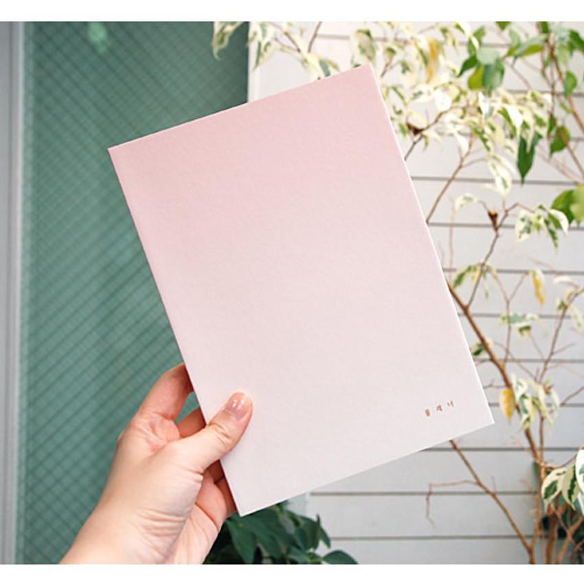 Rose quartz - Gradation undated weekly planner scheduler
