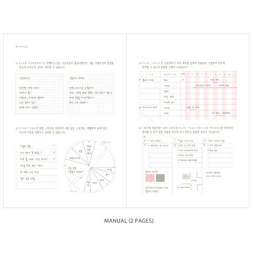 Manual - Gradation undated weekly planner scheduler