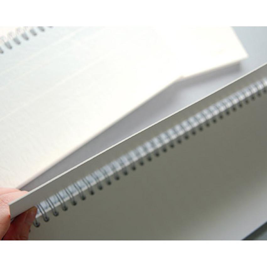 Detail of Gradation spiral undated weekly desk planner