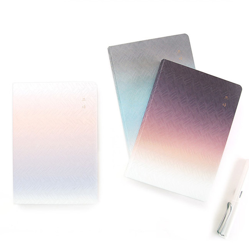 Gradation hardcover lined notebook