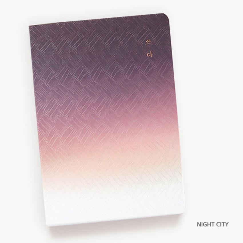 Night city - Gradation hardcover lined notebook
