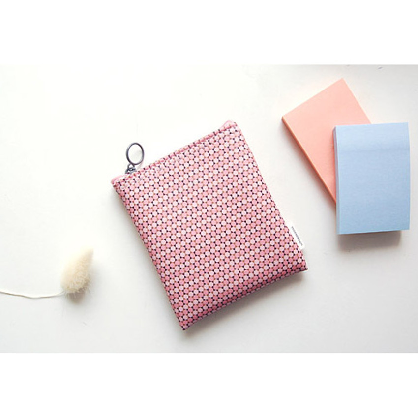 Pattern small zipper flat pouch