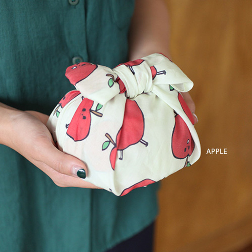 Apple - Jam Jam pattern hankie handkerchief