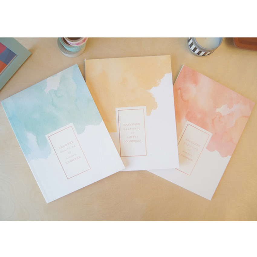 Watercolor lined notebook