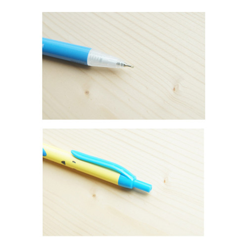 Detail of Ice cream knock retractable black ballpoint pen 0.38mm