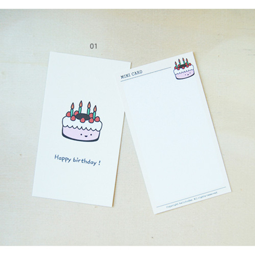 01 - Cheer up small message card