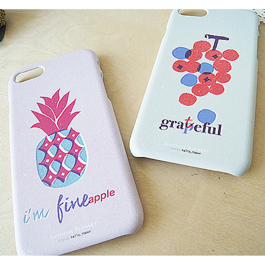 Detail of Witty fruits ABS matte iPhone 7 case