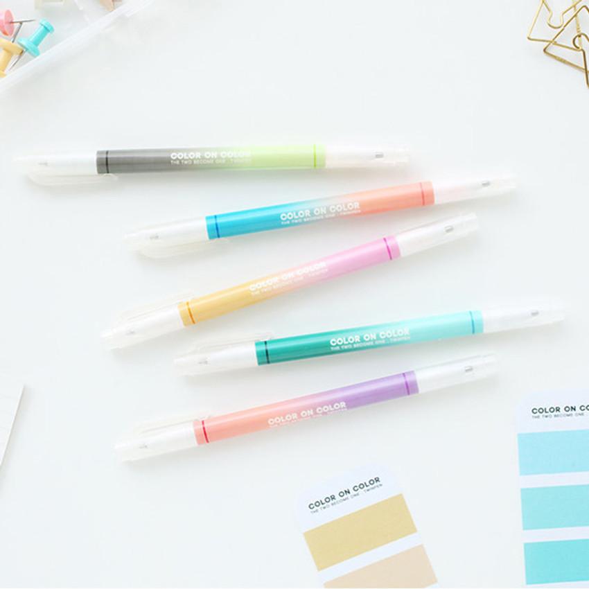 10 Colors double ended color gel pen