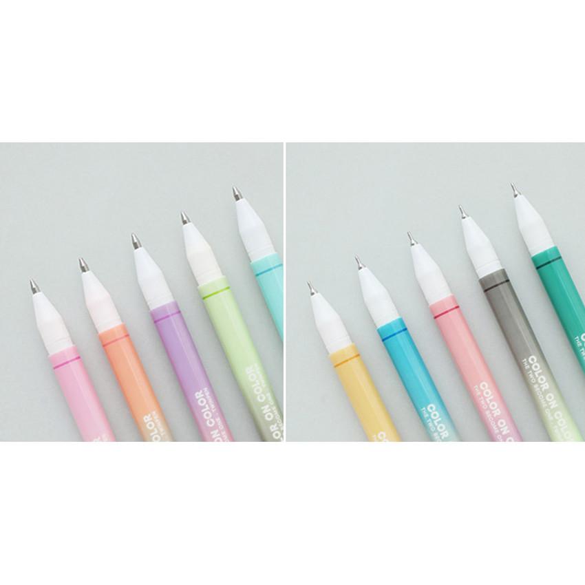 Detail of 10 Colors double ended color gel pen