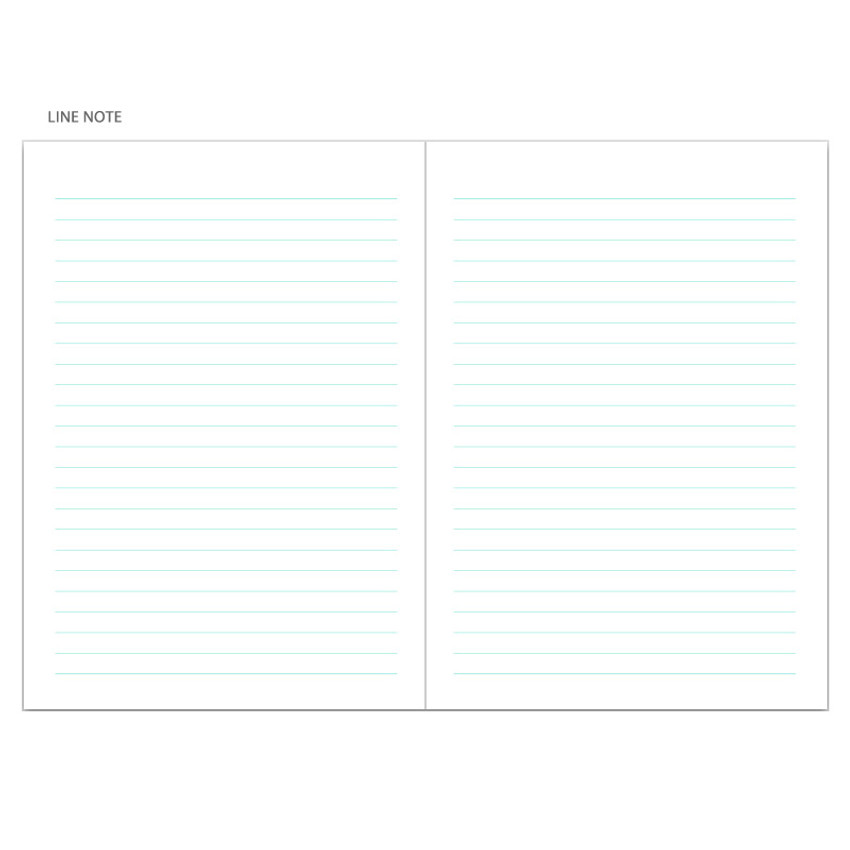 Line note - Chill out undated weekly planner
