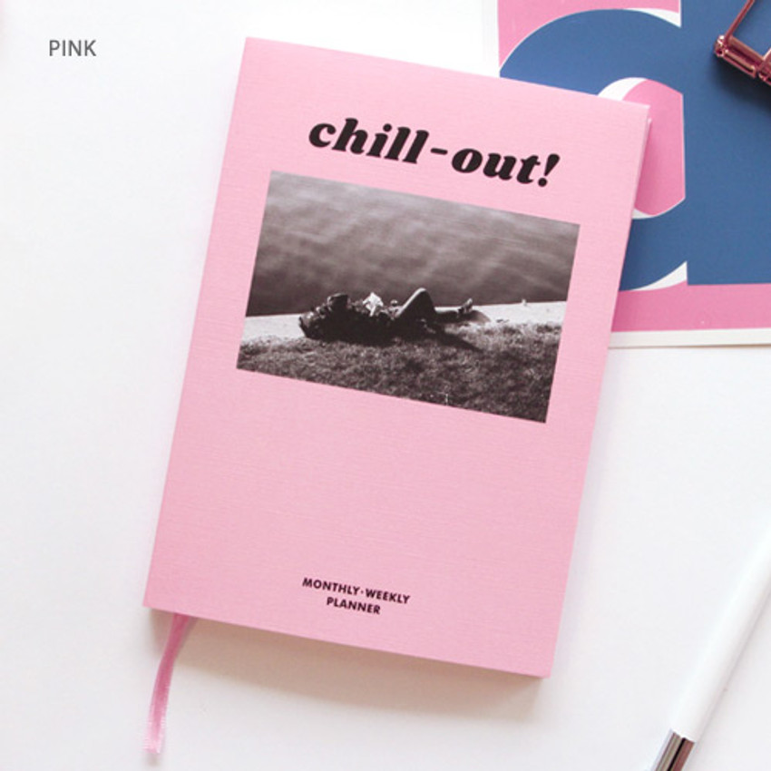 Pink - Chill out undated weekly planner