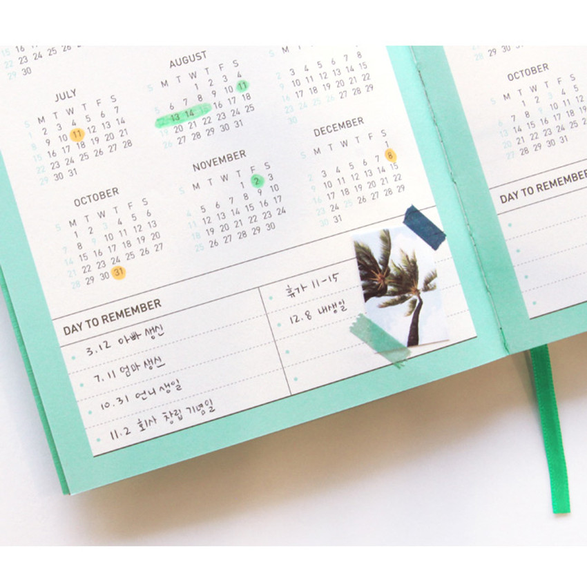 2018-2019 Calendar - Chill out undated weekly planner
