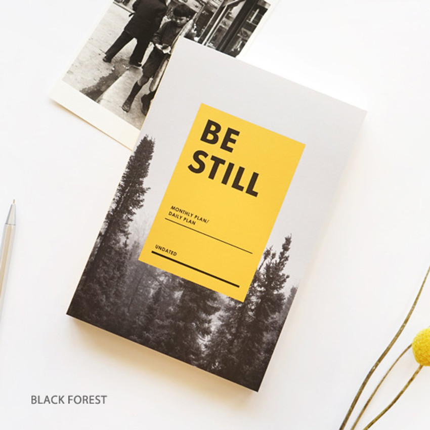 Black forest - Be still undated daily planner