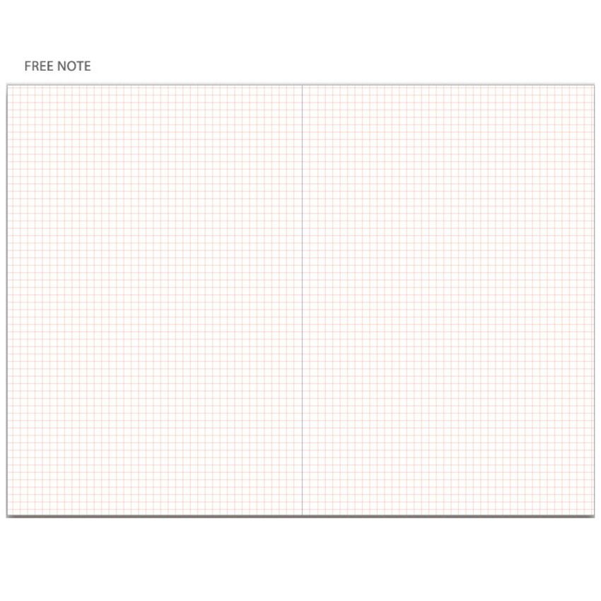 Grid note - Be still undated daily planner