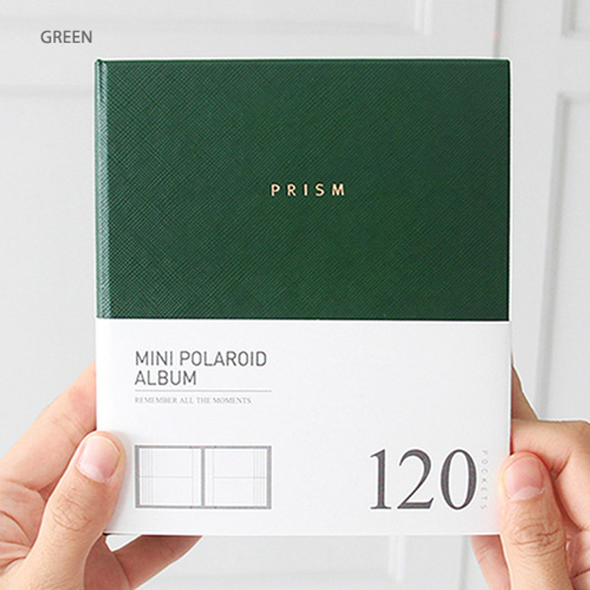 Green - Prism instax mini slip in photo album
