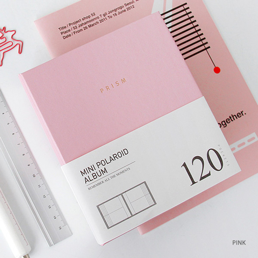 Pink - Prism instax mini slip in photo album