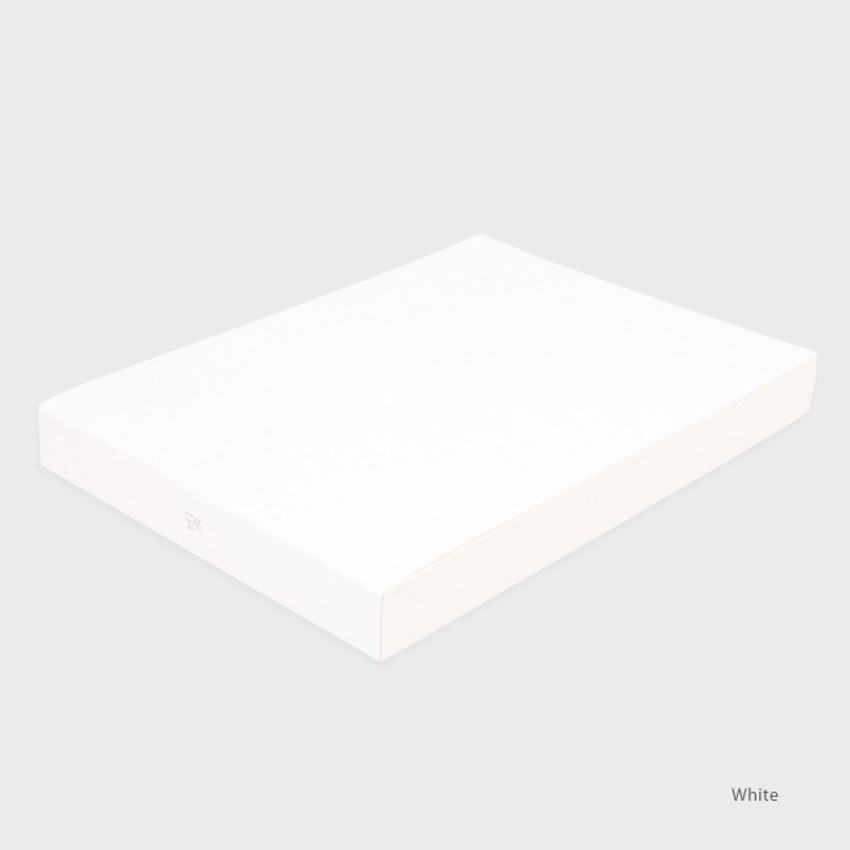 White - Spring feelings large drawing notebook