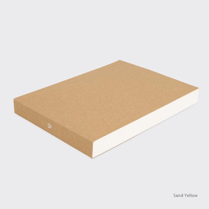 Sand yellow - Spring feelings large drawing notebook
