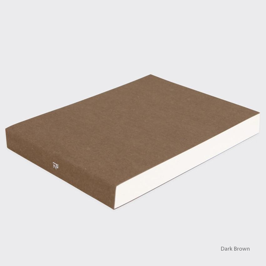 Dark brown - Spring feelings large drawing notebook