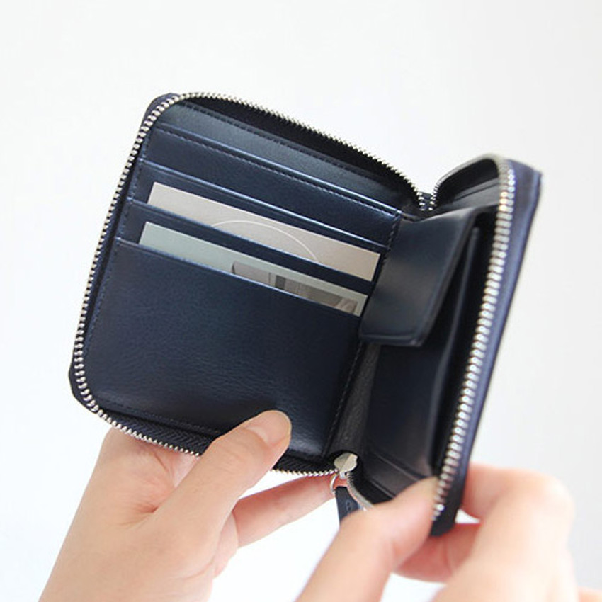 Inside of Caily zip around small wallet