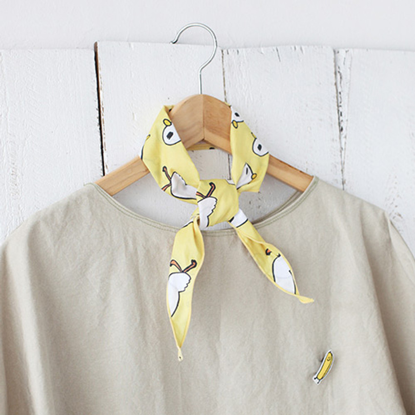 Duck - Jam Jam petit pattern scarf