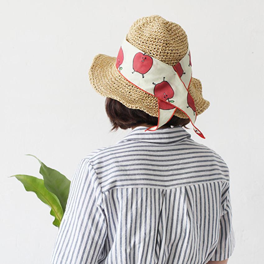 Apple - Jam Jam petit pattern scarf