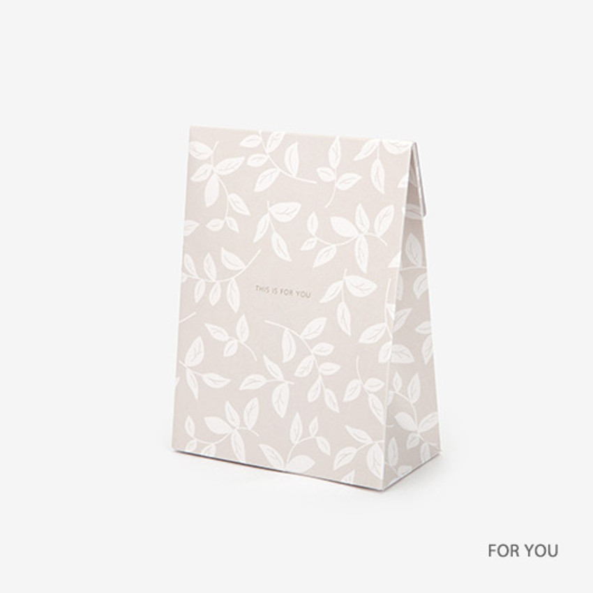 For you - For your heart pattern small paper gift bag