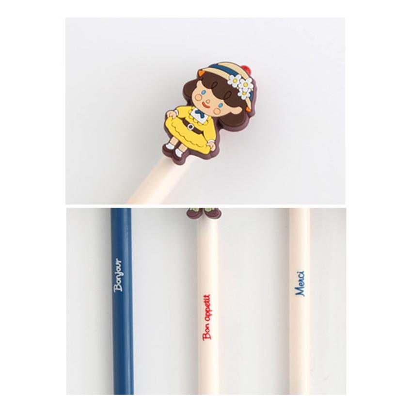 Detail of Hellogeeks petite parisien color gel pen