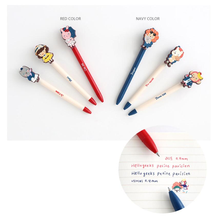 Colors of Hellogeeks petite parisien color gel pen