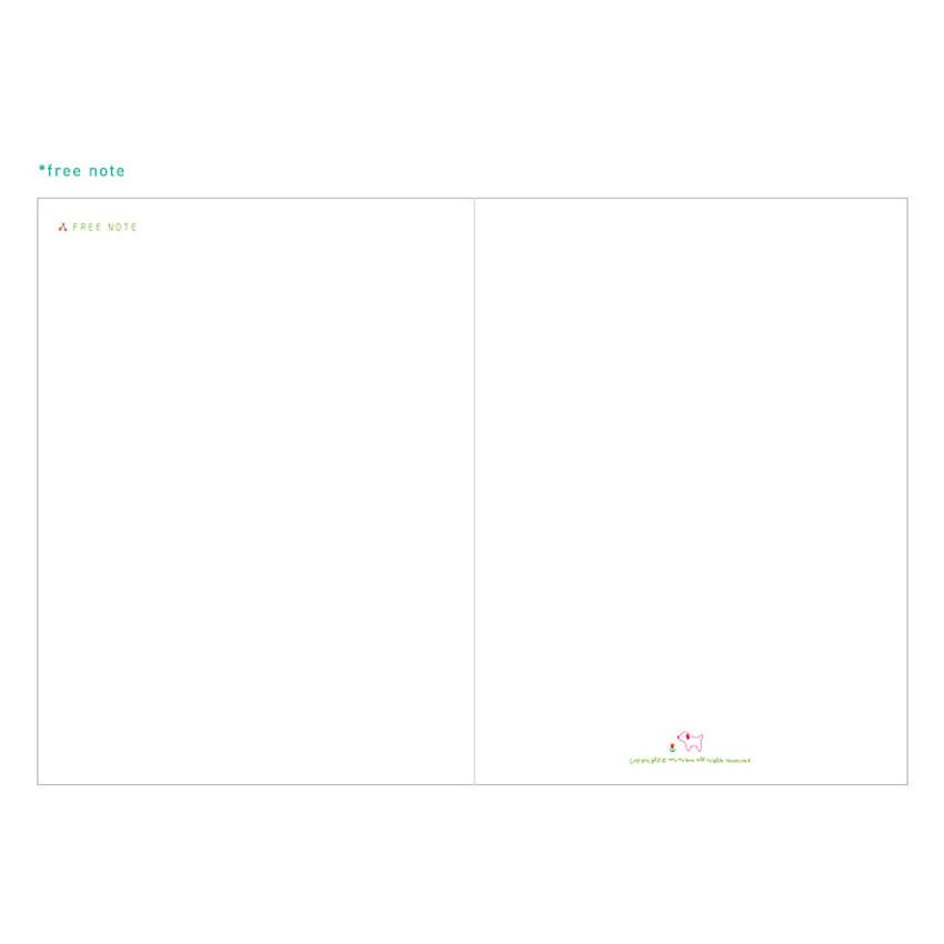 Free note - Bon voyage city undated weekly planner
