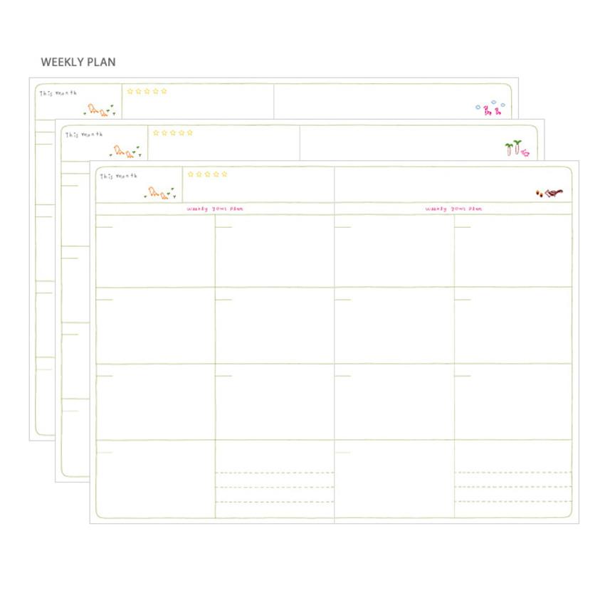 Weekly plan - Bon voyage city undated weekly planner