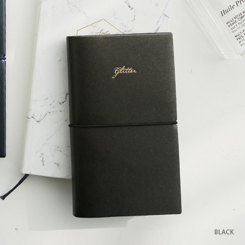Black - Glitter small undated weekly diary