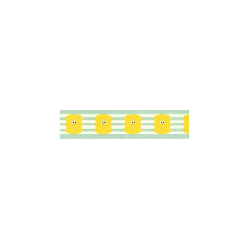 "Som Som yellow bubble 0.59""X11yd single deco masking tape"