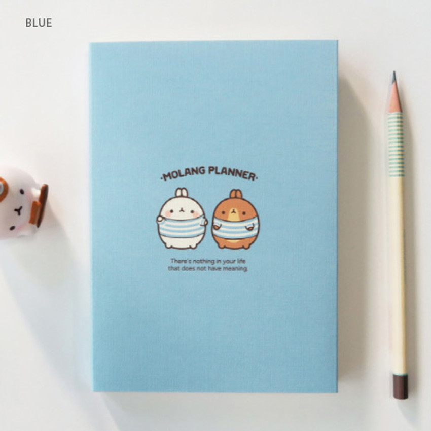 Blue - Molang undated weekly planner scheduler ver2