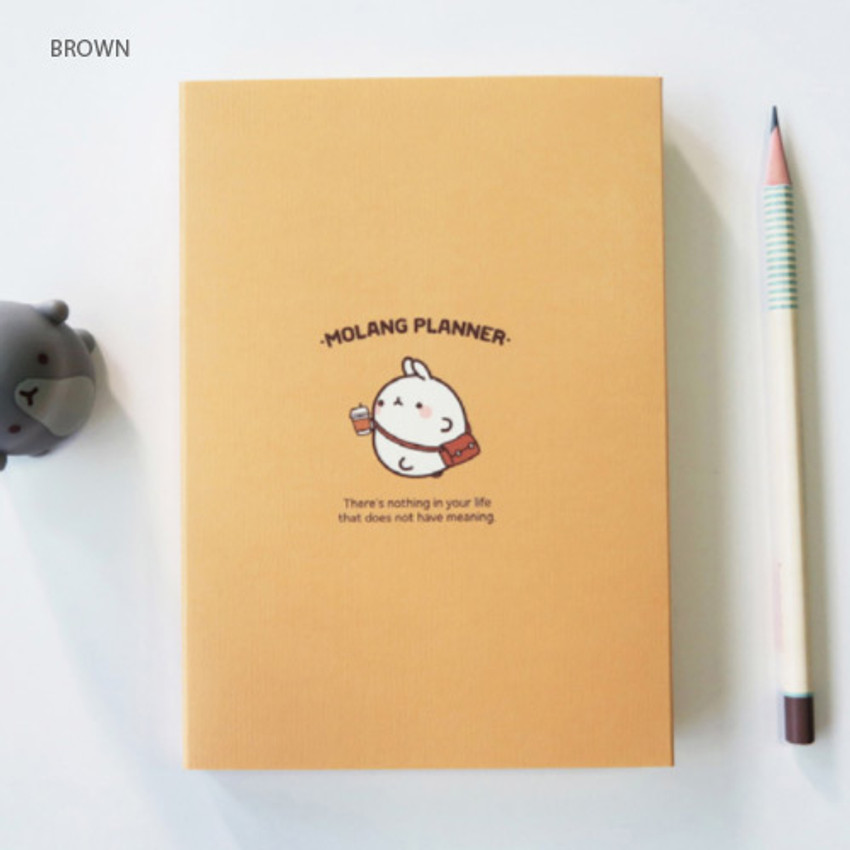 Brown - Molang undated weekly planner scheduler ver2