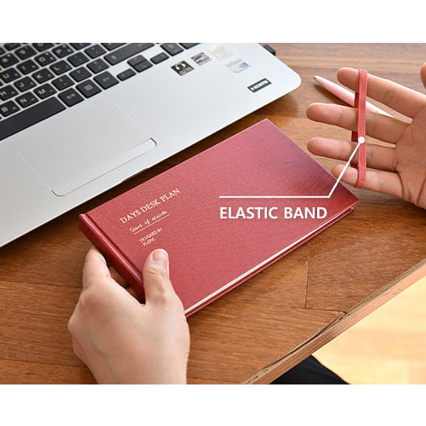 Elastic band - Days desk hardcover undated weekly planner