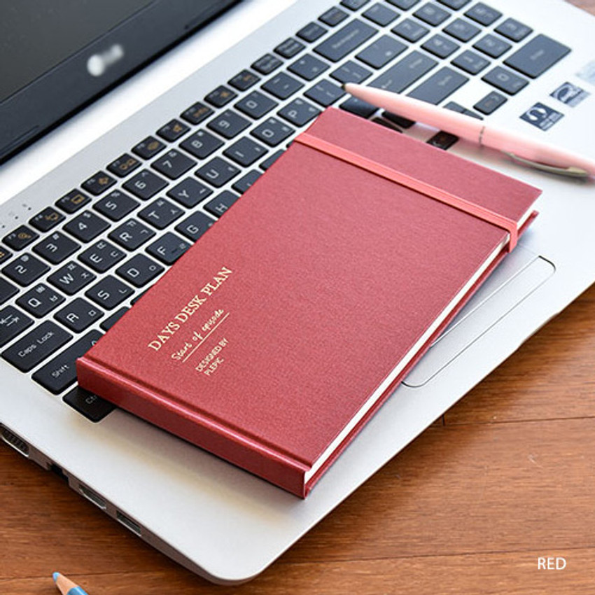 Red - Days desk hardcover undated weekly planner
