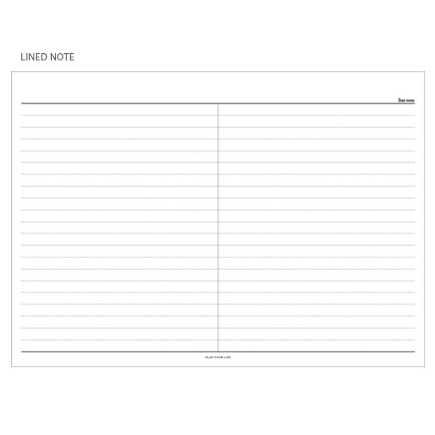 Lined note - The Monthly times desk planner notepad