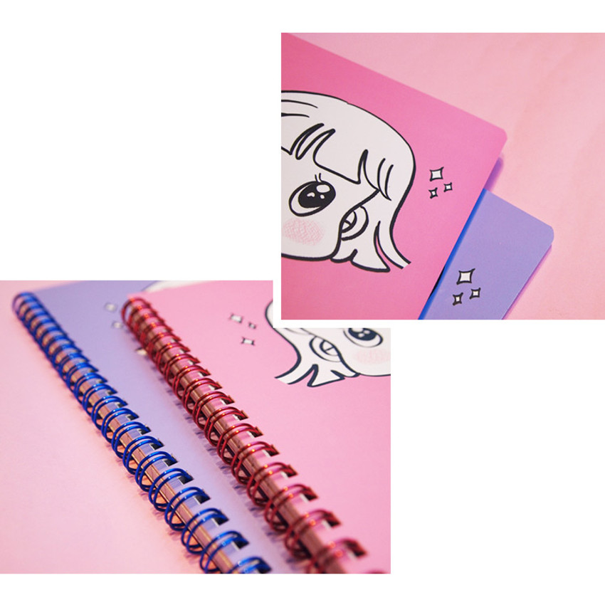 Detail of Nicejin spiral bound lined notebook