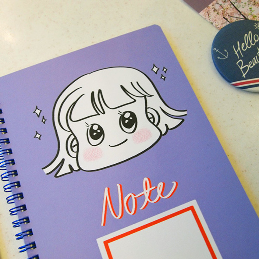 Purple - Nicejin spiral bound lined notebook
