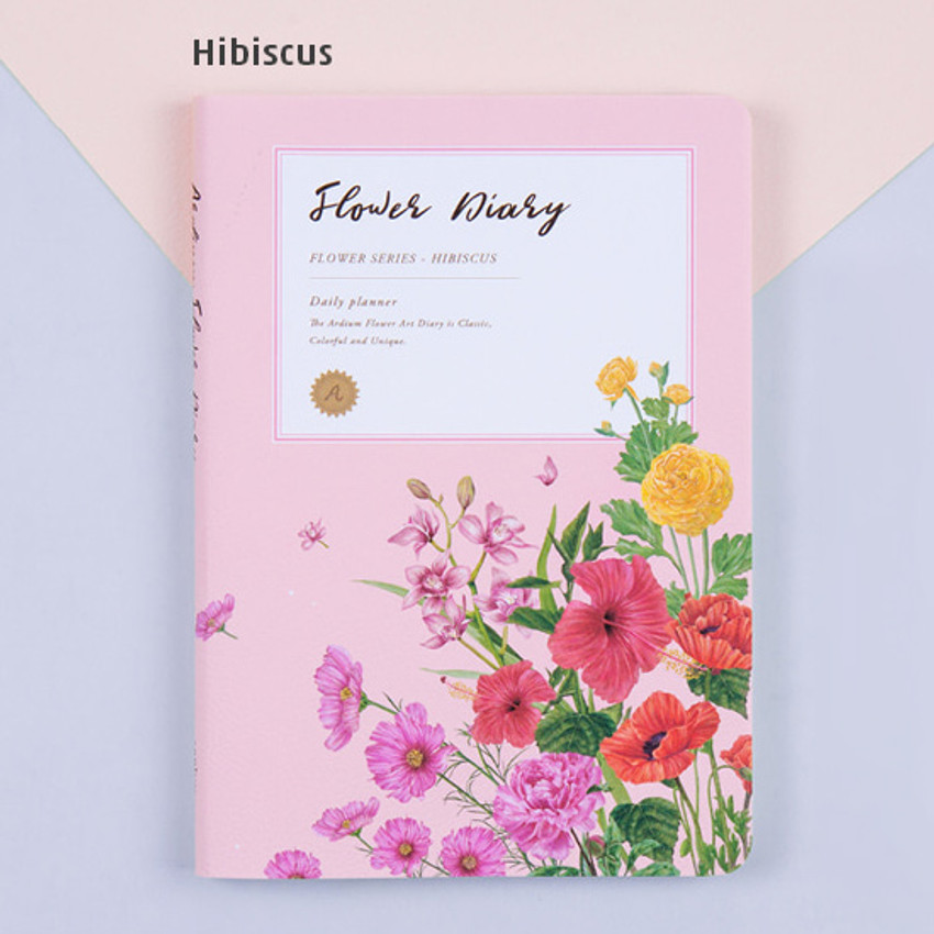 Hibiscus - Flower illustration undated weekly diary
