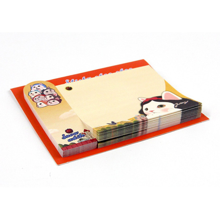 Snow white - Choo Choo cat sticky memo notes bookmark