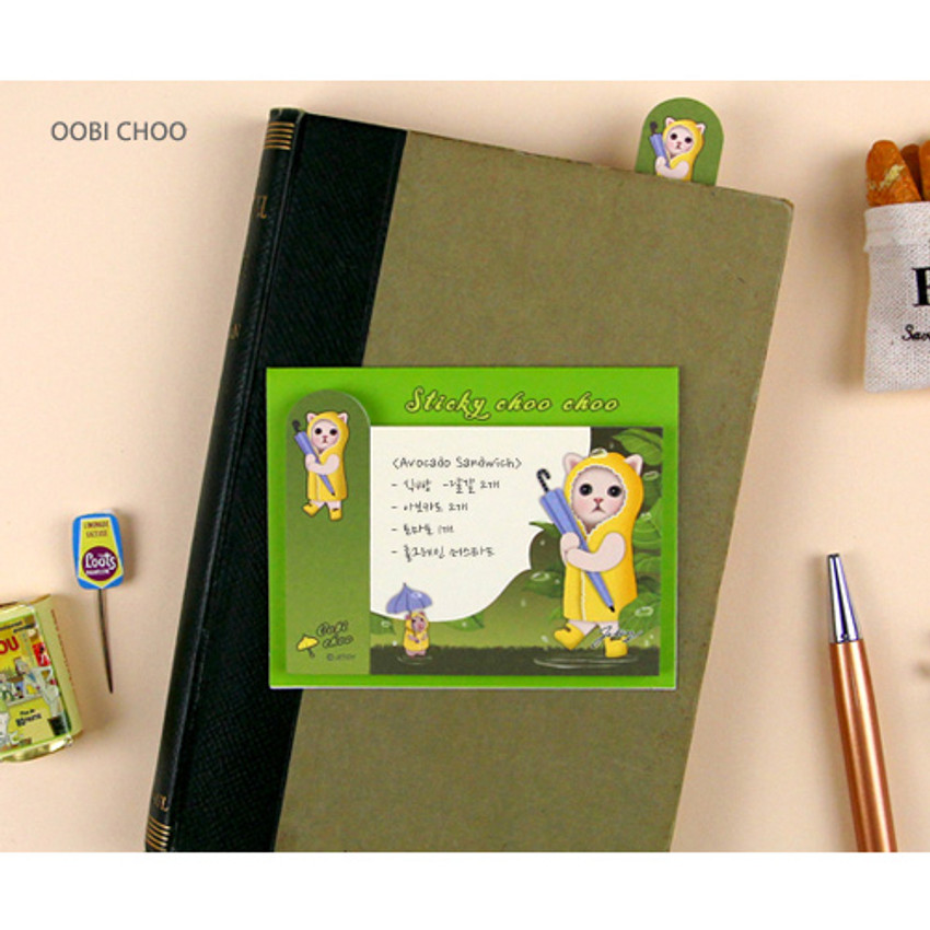 Oobi choo - Choo Choo cat sticky memo notes bookmark