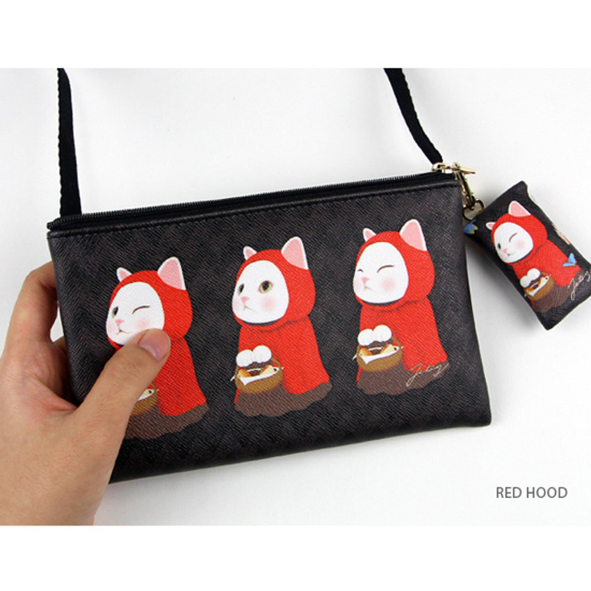 Red hood - Choo Choo cat petit small shoulder bag