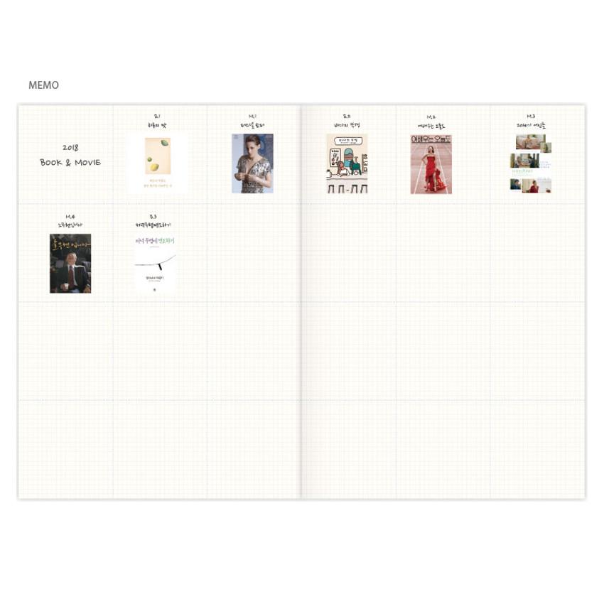 Memo - Hej maned B5 undated monthly planner scheduler