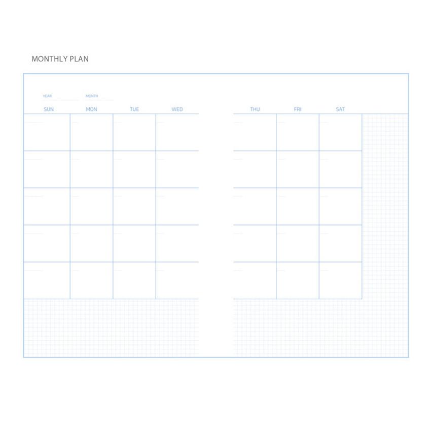 Monthly plan - Simple 100 days study planner scheduler