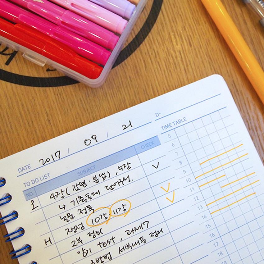 Daily plan - Simple 100 days study planner scheduler
